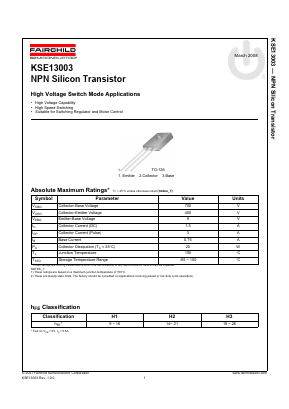 KSE13003 image